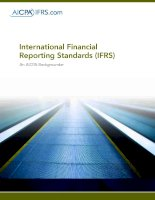International Financial Reporting Standards (IFRS): An AICPA Backgrounder doc
