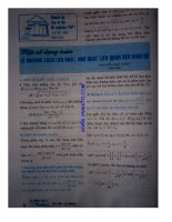 Một số dạng toán về khoảng cách lớn nhất nhỏ nhất liên quan đến hàm số potx