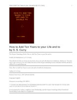 How to Add Ten Years to your Life and to Double Its Satisfactions pot