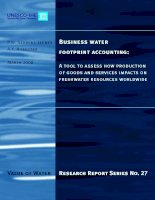 Business water footprint accounting: A tool to assess how production of goods and services impacts on freshwater resources worldwide pdf