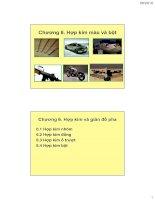 Vật liệu kim loại ( Hoàng Văn Vương ) - Chương 6. Hợp kim màu và bột pptx