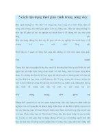 5 cách tận dụng thời gian rảnh trong công việc pdf
