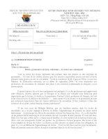 Đề thi HSG khu vực Bắc Bộ năm 2012 Môn Tiếng Pháp 10 pptx