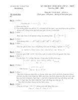 Đề thi và đáp án học sinh giỏi tinh thanh hóa môn toán lớp 12 năm 2005- 2006