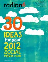 30 Ideas for your 2012 Social Media Plan potx
