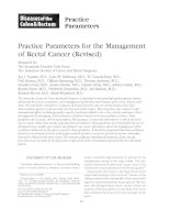 Practice Parameters for the Management of Rectal Cancer (Revised) potx