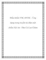 Điều khiển VSC-HVDC - Ứng dụng trong truyền tải điện một chiều Hội An - Đảo Cù Lao Chàm doc