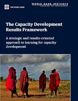 The Capacity Development Results Framework - A strategic and results-oriented approach to learning for capacity development potx