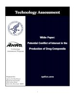 POTENTIAL CONFLICT OF INTEREST IN THE PRODUCTION OF DRUG COMPENDIA doc