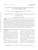 The Effectiveness of Educational Intervention in the Health Promotion in Elderly people ppt