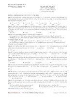 Đề thi thử đại học môn Vật Lý 2014 (đề số 09)