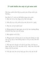 27 cách khiến cho một cô gái mỉm cười ppt