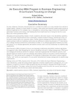 An Executive MBA Program in Business Engineering: A Curriculum Focusing on Change pot
