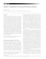 Modern management of chronic granulomatous disease doc