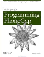 20 Recipes for Programming PhoneGap docx