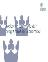 Welcome to the Master programme in Economics! pptx