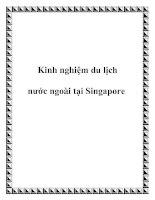 Kinh nghiệm du lịch nước ngoài tại Singapore pdf