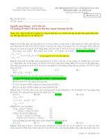 Đáp án chi tiết đề thi chuyên Vĩnh Phúc lần 2 năm 2013