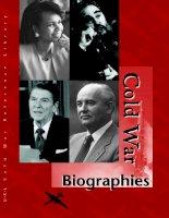 Cold War Biographies Volume 1: A-J pot