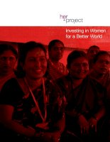 Investing in Women for a Better World pptx