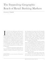 The Expanding Geographic Reach of Retail Banking Markets ppt