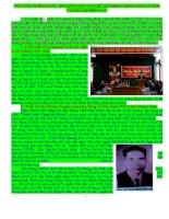Tóm tắt những mốc lịch sử đoàn thanh niên cộng sản hồ chí minh tỉnh Thanh Hóa (1930- 2013)