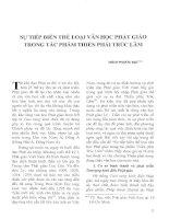 Báo cáo khoa học: Sự tiếp biến thể loại văn học Phật giáo trong tác phẩm Thiên Phái trúc lâm pptx