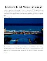Lý do nên du lịch Mexico vào mùa hè docx