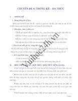Chuyên đề 4: Thống kê - Đa thức - Toán đại số lớp 7 pdf