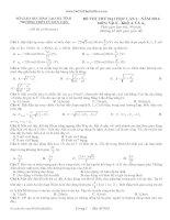 Đề thi thử môn Lý  THPT Cù Huy Cận (mã đề 984)