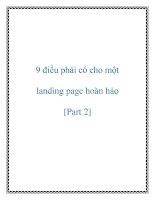 9 điều phải có cho một landing page hoàn hảo [Part 2] pot