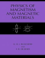 Physics of magnetism and magnetic materials   k  buschow, f  de boer