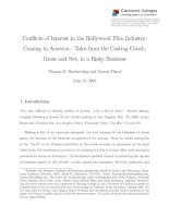 CONFLICTS OF INTEREST IN THE HOLLYWOOD FILM INDUSTRY: COMING TO AMERICA - TALES FROM THE CASTING COUCH, GROSS AND NET, IN A RISKY BUSINESS pdf
