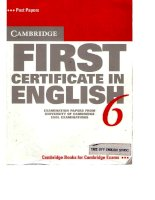 cambridge first certificate in english 6