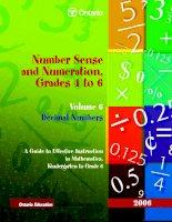 Number Sense and Numeration, Grades 4 to 6 Volume 6 Decimal Numbers pdf