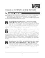 NANCIAL INSTITUTIONS AND MARKETS Chapter Web pot