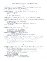ĐỀ CƯƠNG ÔN TẬP HỌC KỲ II – MÔN TOÁN LỚP 7 pptx