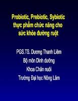 Probiotic, Prebiotic, Sybiotic thực phẩm chức năng cho sức khỏe đường ruột doc