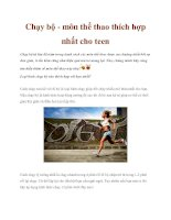 Chạy bộ - môn thể thao thích hợp nhất cho teen pdf