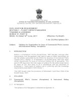 Syllabus for Examination for Issue of Commercial Pilot's Licence and Instrument Rating - Aeroplanes doc