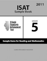 ISAT Sample Book 5: Sample Items for Reading and Mathematics 2011 pdf