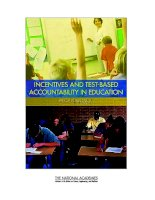 INCENTIVES AND TEST-BASED ACCOUNTABILITY IN EDUCATION doc