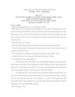 đáp án đề thi lí thuyết tốt nghiệp khóa 3 - kế toán doanh nghiệp - mã đề thi ktdn - lt (9)