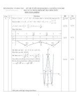 đáp án đề thi đại học môn toán năm 2002 khối b