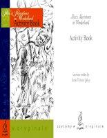 Alice's adventures in wonderland activity book