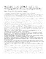 """Quan điểm của Hồ Chí Minh về chiến lược """"trồng người"""" và nội dung của công tác cán bộ"""