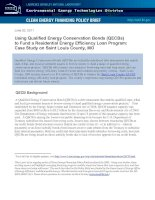 Using Qualified Energy Conservation Bonds (QECBs) to Fund a Residential Energy Efficiency Loan Program: Case Study on Saint Louis County, MO potx