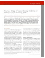 American College of Gastroenterology Guidelines for Colorectal Cancer Screening 2008 pdf