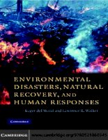 Environmental Disasters, Natural Recovery and Human Responses pptx