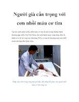 Người già cẩn trọng với cơn nhồi máu cơ tim doc